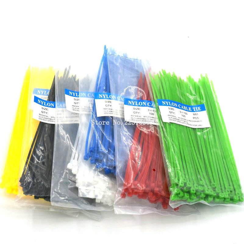 100PCS/Pack 3*150mm width 2.5mm Colorful Factory Standard Self-locking Plastic Nylon Cable Ties Wire Zip Tie 100pcs 3 100 3 120 3 150 3 200 white black milk cable wire zip ties self locking 5 250 nylon cable tie 3x100mm 3x150mm 3x200mm