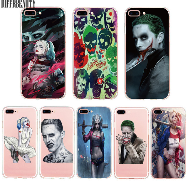 Suicide Squad Joker Harley Quinn Case for iPhone 6 7 7Plus 6Plus 6S 5S SE Ultra Thin Soft Silicone