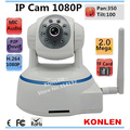 1080P Full HD IP Camera 2mp Mega Wifi Wireless PTZ  P2P Onvif IR Night SD Card CCTV kamera China For Home Security