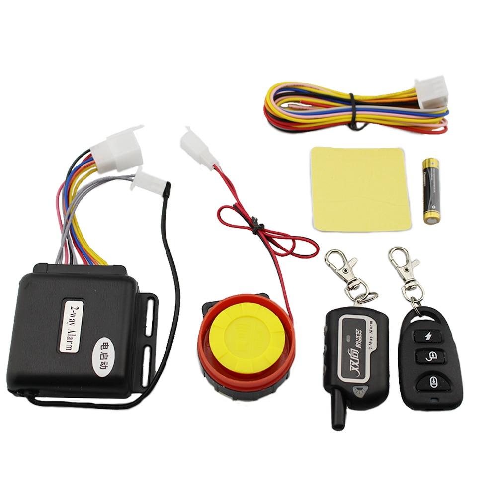 все цены на Master Racing Two Way Alarm Motorcycle Scooter Security 2 Way Alarm Remote Control Engine Start Vibration Alarm Lock System онлайн
