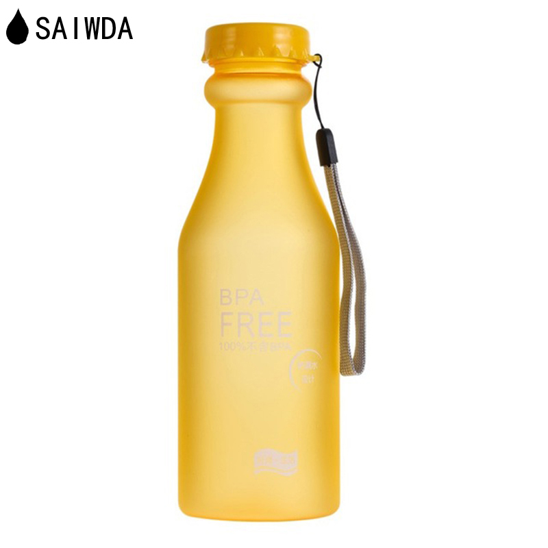550ML Water Bottle  Candy Colors Unbreakable Frosted Leak-proof Plastic kettle   Free Portable for Travel Yoga  Campi SAIWDA carre j the night manager isbn 9780241247525