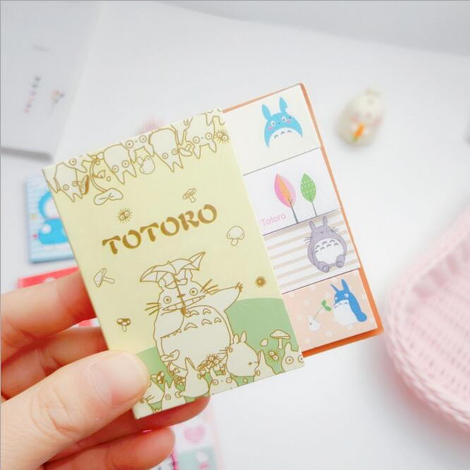 Kawaii Korean Cartoon Baymax Doraemon Totoro N Times Sticky Memo Note Book Message Tab Notepad Sticker Memo Pads Stationery