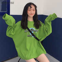 T-shirts Women Spring Lady Clothing Ulzzang Long Sleeve T-shirt Womens Trendy Letter Printed Harajuku Korean Style Hip Hop Loose