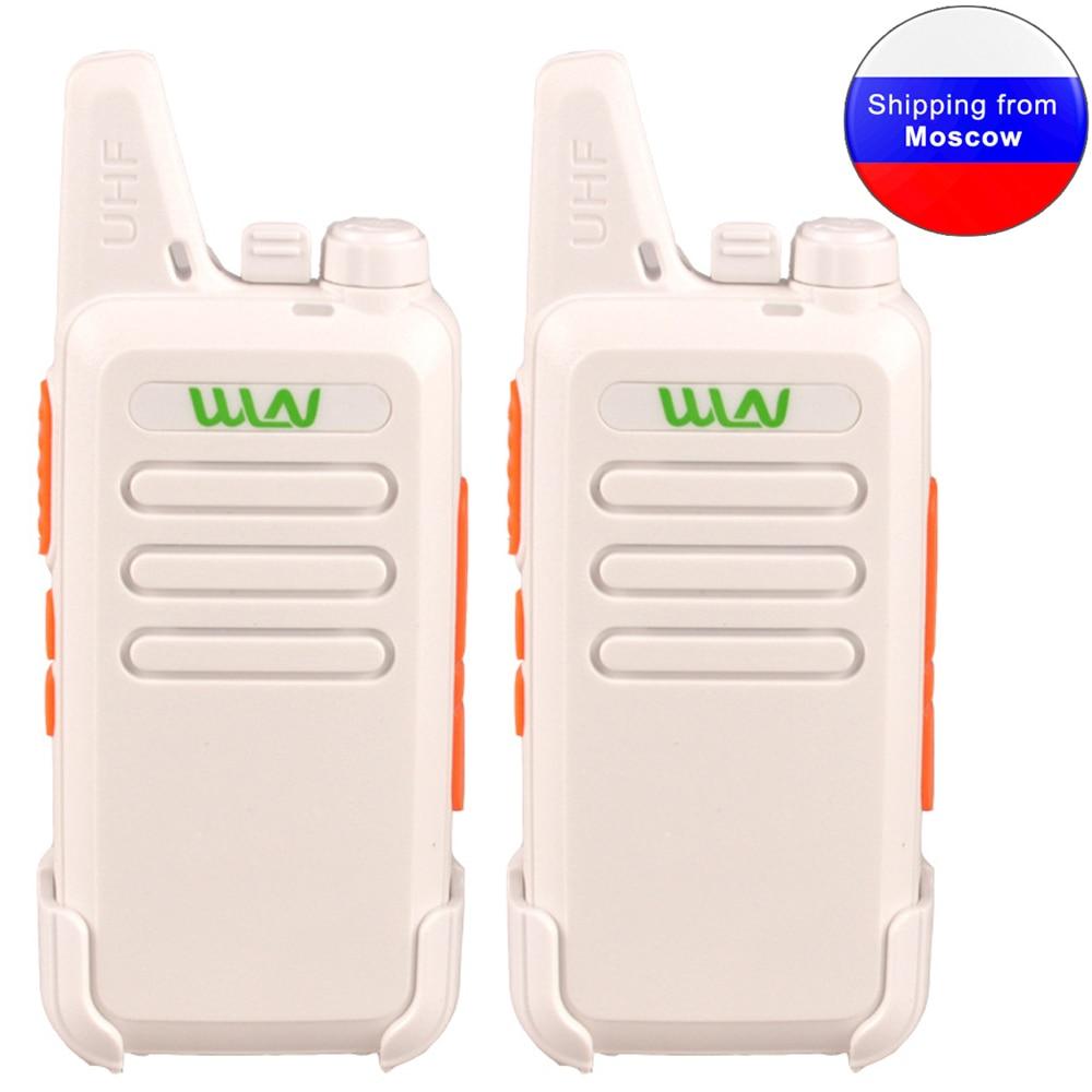 2PCS White Walkie Talkie WLN KD-C1 Mini Radio UHF 400-470 MHz 5W 16 Channel MINI-handheld Transceiver