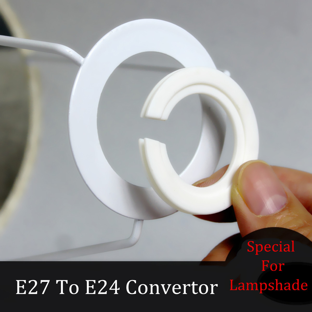 Lampshade Ring Adapter Lamp Light Shades Socket Reducing Ring Adapter Washer For E27 To E14 Lamp Shades Accessories