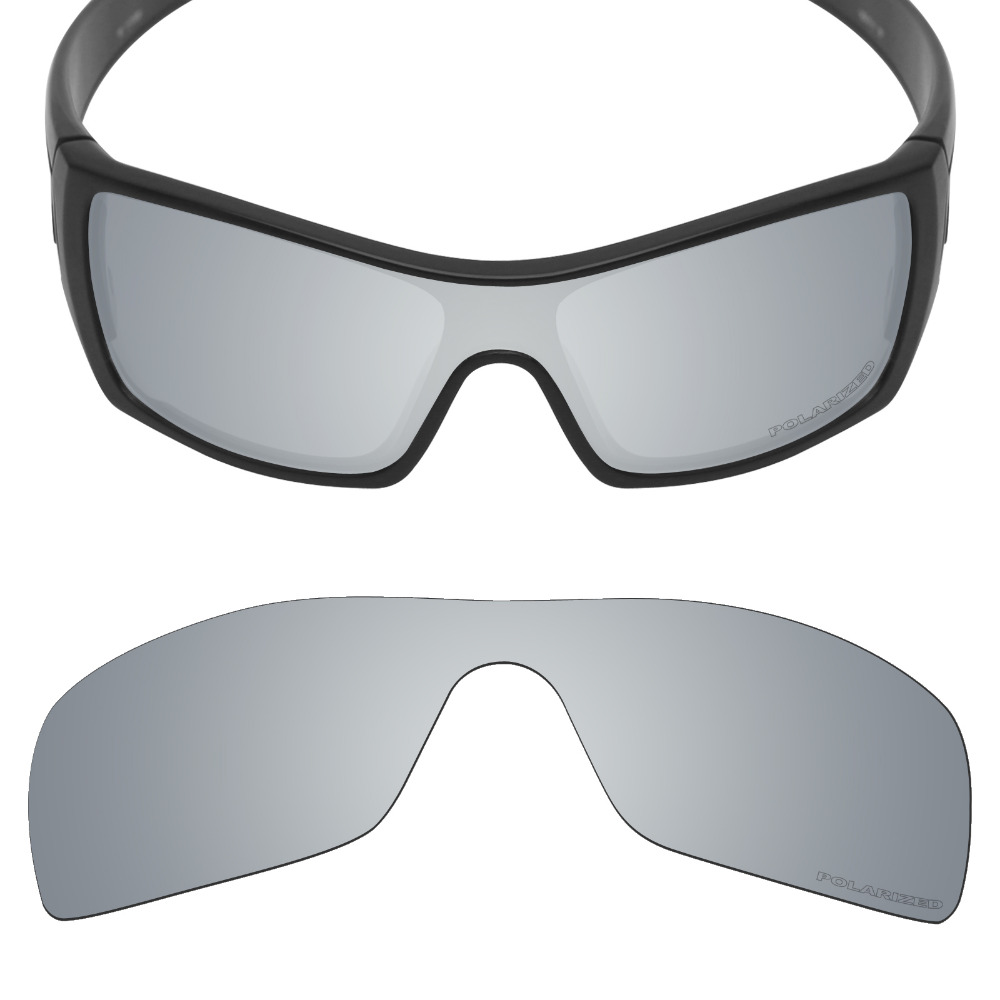 Mryok+ POLARIZED Resist SeaWater Replacement Lenses For Oakley Batwolf Sunglasses Silver Titanium