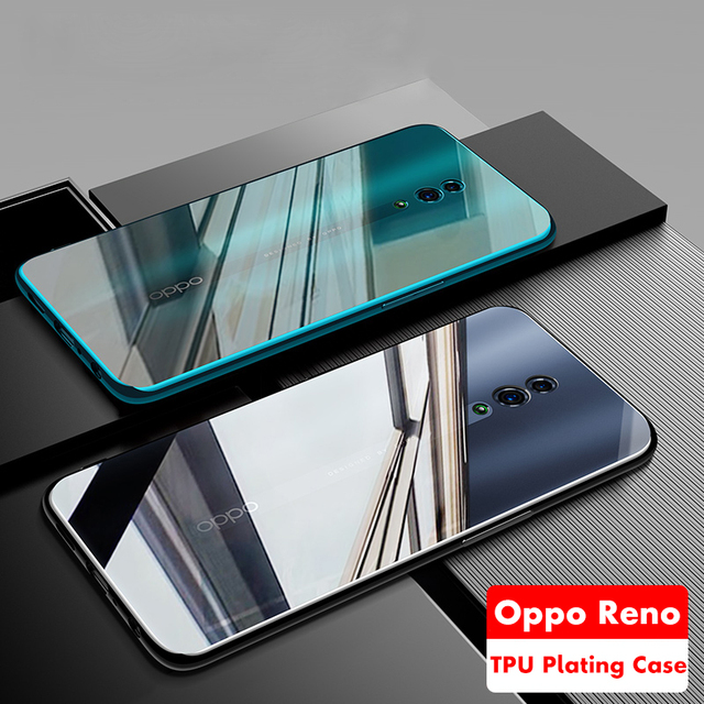 ADKO Glossy Beauty Soft TPU Silicone Cover For Oppo Reno Plating Durable Case For Oppo Reno 5G 10x Zoom Version 6.6'' inch