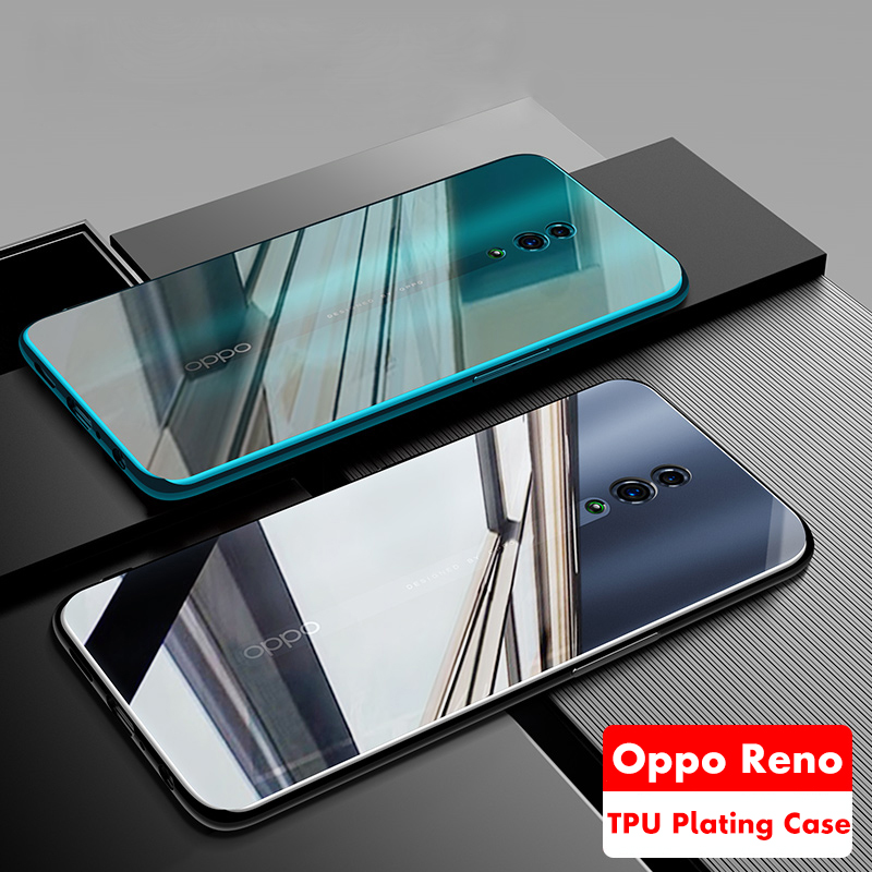 ADKO Glossy Beauty Soft <font><b>TPU</b></font> Silicone Cover For <font><b>Oppo</b></font> <font><b>Reno</b></font> Z <font><b>Plating</b></font> Durable Case For <font><b>Oppo</b></font> <font><b>Reno</b></font> 5G 10x Zoom Version 6.6'' inch image