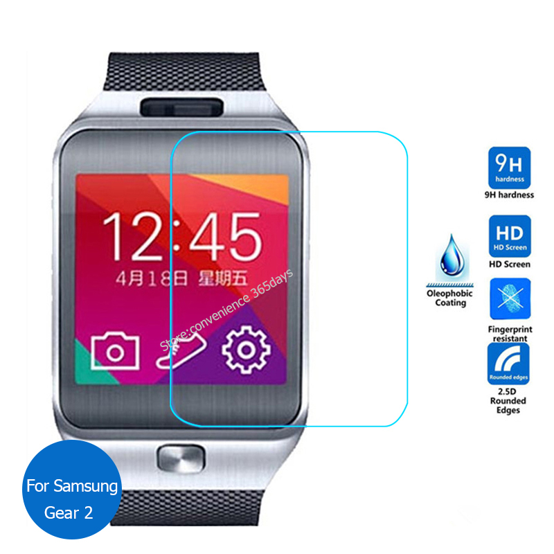 Glass Film For Samsung Smart Watch Gear2 Neo R380 font b Smartwatch b font 9H Tempered