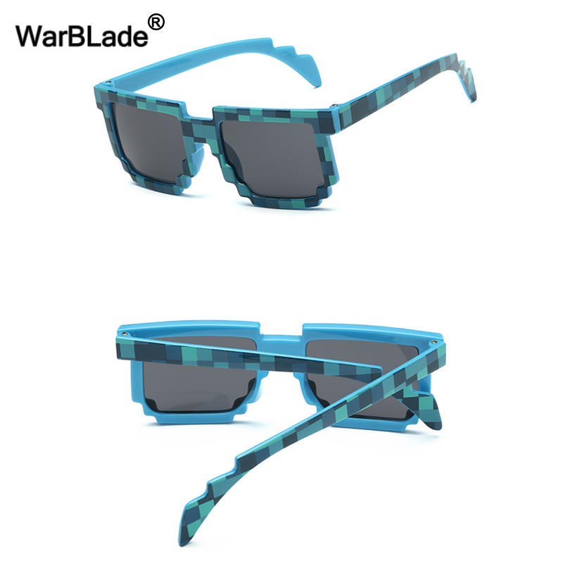 10 teile/los Kinder Sonnenbrille Kleiner Größe Cos Spielen Action Spiel Spielzeug Minecraft Sonnenbrille Mosaik Jungen Mädchen Kinder Pixel Eyewares