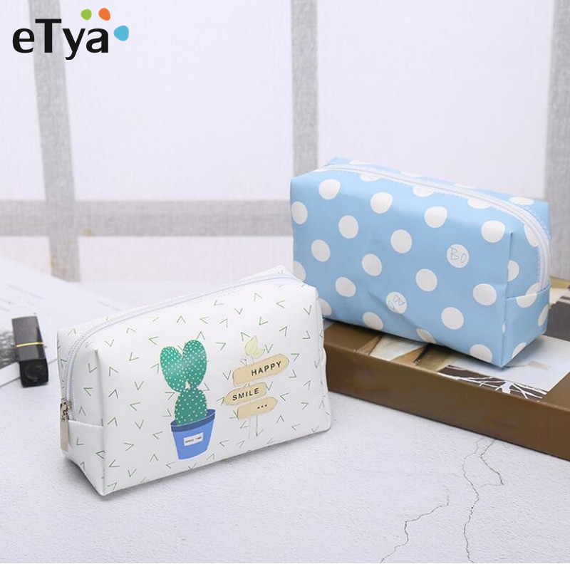 eTya Travel Fashion Women Cosmetic Bag Small Travel Neceser Makeup Bag Organizer Case Make up Cosmetic Storage Pouch Case цена