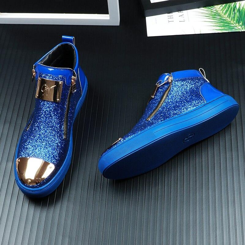 Hip azul Zapatillas Tamaño 3 Colores Todos Hombres Aire Al Estudiantes Casuales Pop Negro Encuentro 39 Libre 44 Moda blanco Hombre De Zapatos Cordones Los BtwqU77