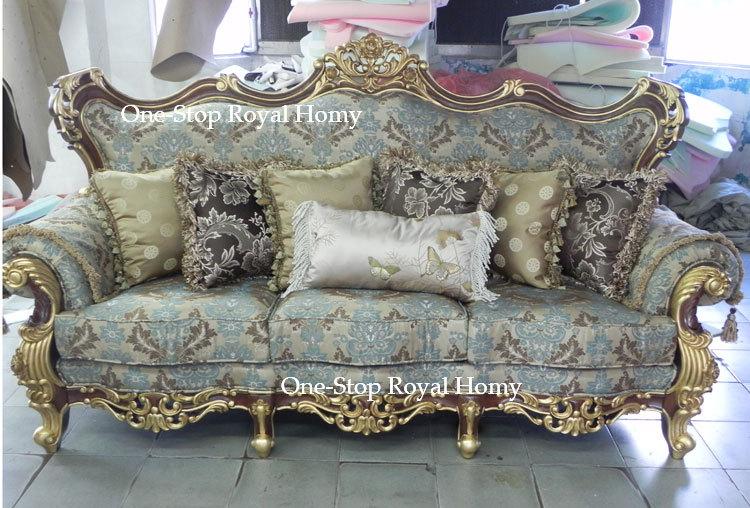 Stately Luxury Royal Antique Solid Wood Furnishing Sofa