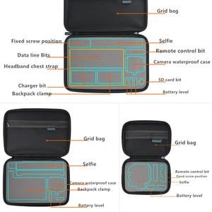 Image 4 - Portable Carry Storage Bag Protective Case Box 3 Size Handbag For GoPro Hero 8 7 6 5 4 3  Xiaomi YI Sjcam Accessories Camera Bag
