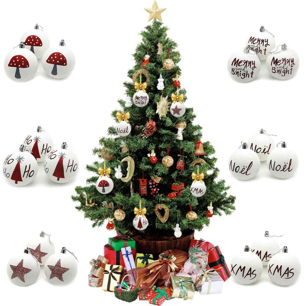 Christmas Balls.Christmas Decoration 3pcs White Matte Christmas Balls Christmas Decorations Christmas Tree Pendants Creative Gift For Kids