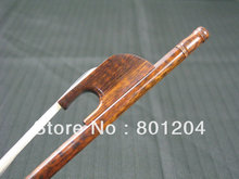 strong Professional snakewood violin bow 4/4 size sanke wood frog and bow stick white horse hair