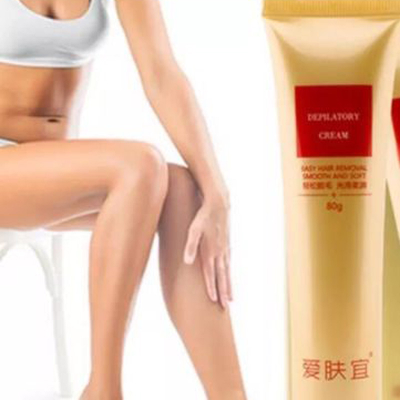 Pantyhose with depilitary lotion