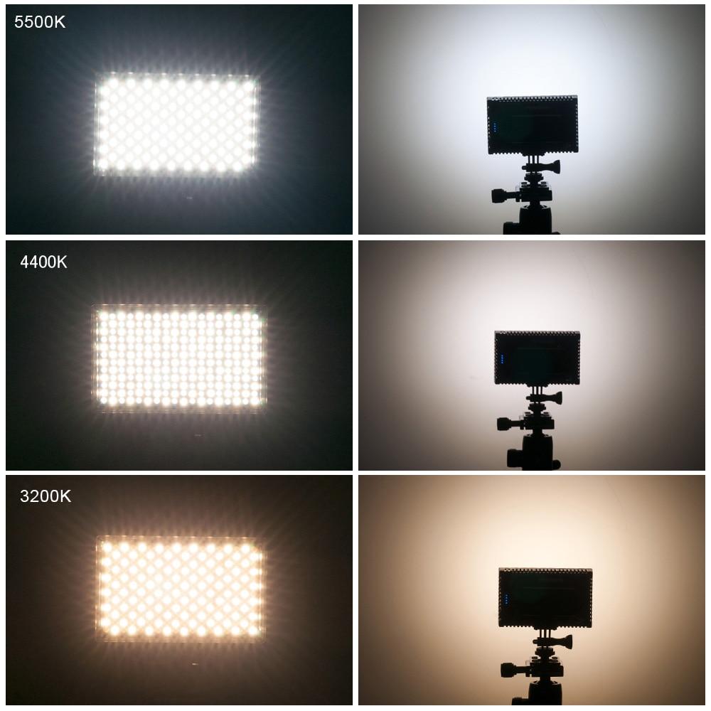 Pergear 216 Sensor Light Adjustable 3200K 5500K Led Video Studio Camera Photo Light for Camcorder Shooting + V shaped Bracket-in Photographic Lighting from ... & Pergear 216 Sensor Light Adjustable 3200K 5500K Led Video Studio ...