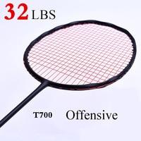 A Forma da curva de Velocidade Quebra de Carbono Badminton Raquete de Alta Tensão Pesada Cabeça Raquete de Badminton dos homens 75g Max 32LBS