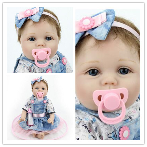 silicone reborn babies baby Dolls rejuvenation dolls cute silicone children's toys body bathing every family gift every набор чехлов для дивана every цвет горчичный