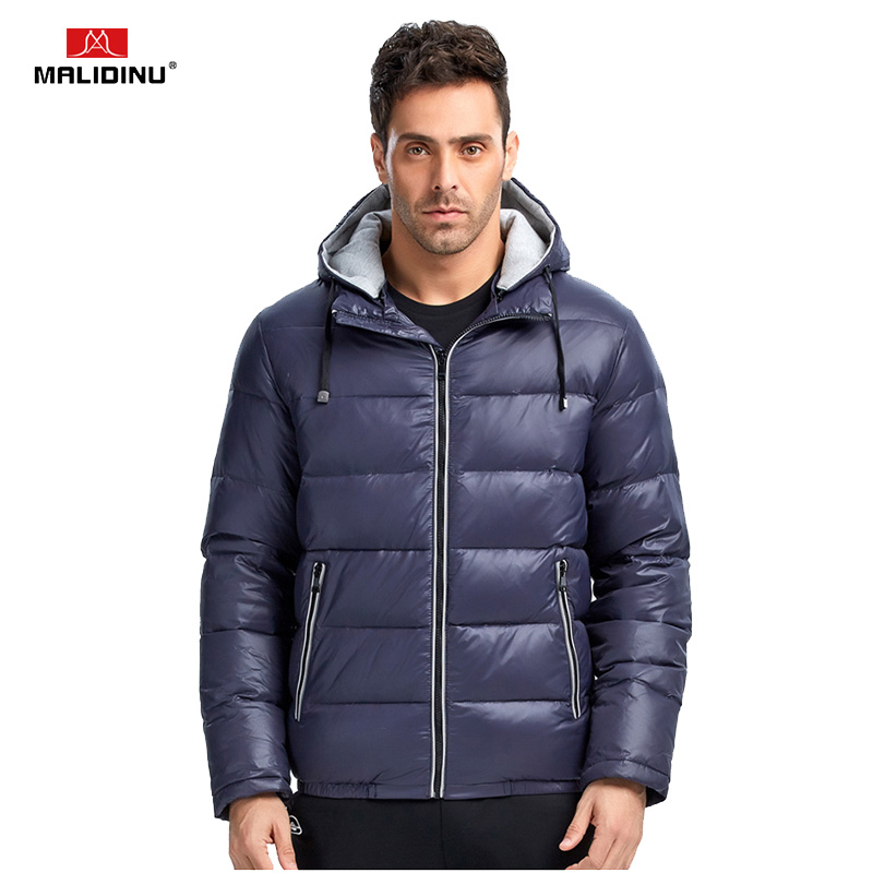 MALIDINU 2018 New Men Down Jacket Winter Jacket Mens 70%White Duck Down Winter Down Coat Thick Warm Coat Brand Free Shipping