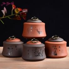 Jia-gui luo Chinese Zisha ceramic tea box moisture-proof waterproof is a good choice for collecting  dried fruit candy цена в Москве и Питере