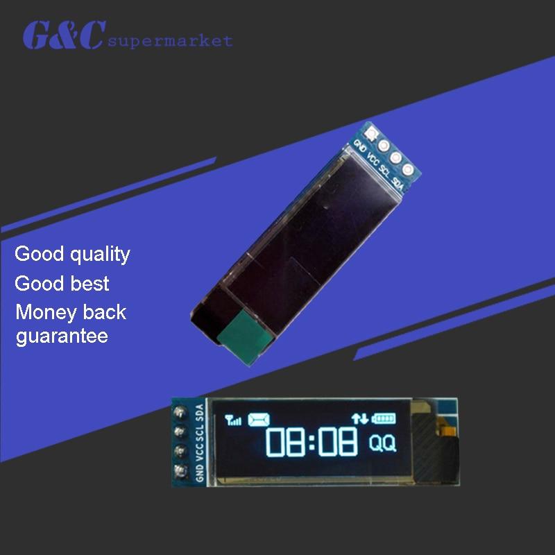 1pcs 0.91 inch OLED module 0.91 white OLED 128X32 OLED LCD LED Display Module 0.91 IIC Communicate
