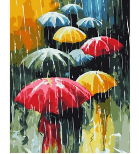 Paraguas Para Colorear Cuadros Pintura Al óleo Sobre Lienzo De Pared