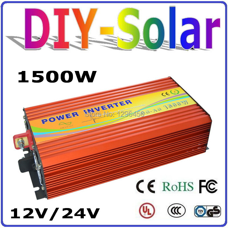 2017 NEW 1500W Solar Wind Power Off Grid Inverter DC12V 24V TO AC 220V 110V Pure Sine Wave Output Solar/Wind/Car/Power Converter