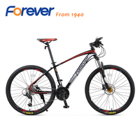High Quality Forever Mountain Bike 27 Speed Bicycle Aluminum Alloy Frame Shock Absorber Fork Double Disc
