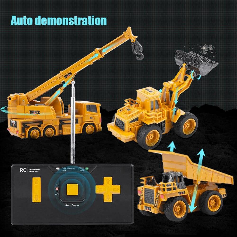 1/64 Rc Graafmachine Digger Speelgoed Graafmachine/dumping Auto/crane Mini Bouw Voertuig Speelgoed Voor Kinderen Kids Gift