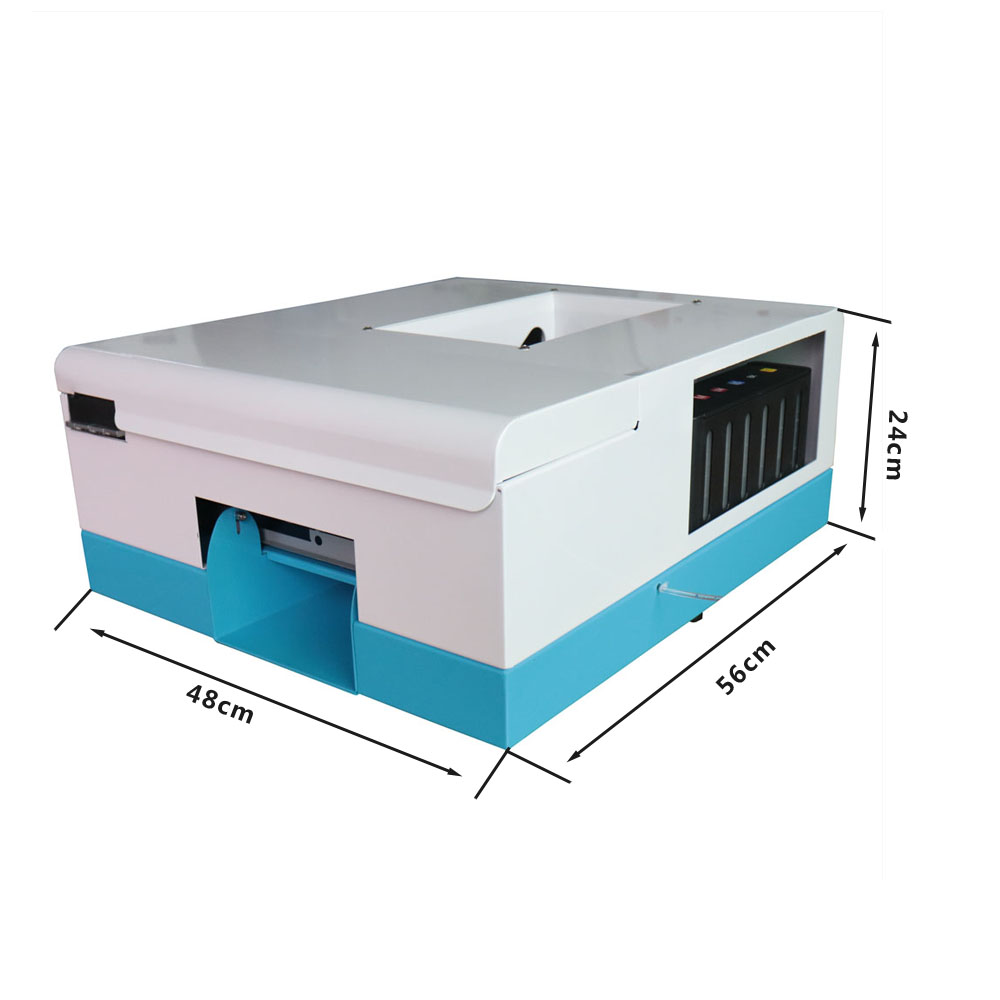 2018 NEW Inkjet Card printer Newest PVC card printing machine CD Printer DVD Disc Printer with each 10 pcs pvc card ...