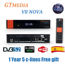 free Europe cline CCcam TV Box Satellite TV Receiver Gtmedia V8 Nova Power biss key Receptor built-in WIFI DVB-S2 H.265 support все цены