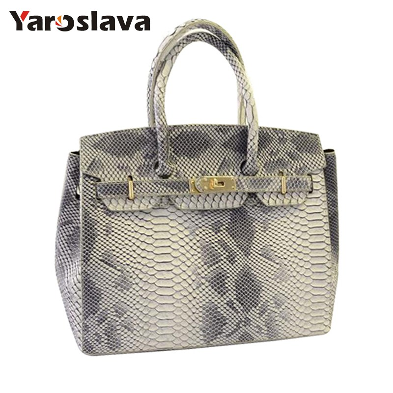 2018 New Lady Snake Skin Bags Women Handbag Bags Women's Messenger Bags Brand Designer Handbags Leather Shoulder Bag LL445