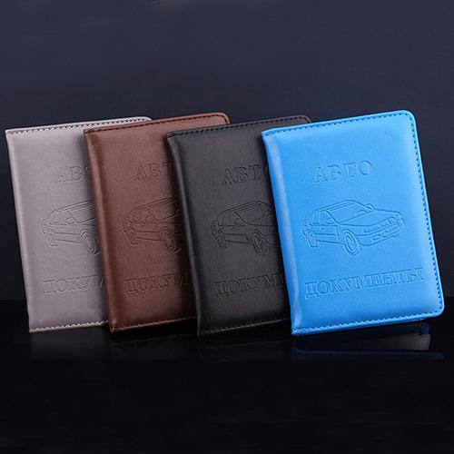 Russian Faux Leather Case Cover for Car Driver s License ID Card Holder Wallet Mujer portafoglio