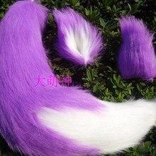 Gugure! Kokkurisann Inugami аниме фиолетовый Кот Лиса плюшевый хвост и Ухо Набор косплей реквизит для костюмов 65 см ручной работы
