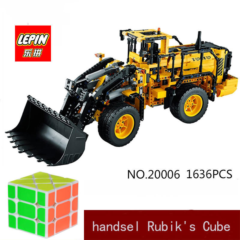 DHL LEPIN 20006 technic series Volvo L350F wheel loader Model Building Kit Blocks Bricks toy Compatible with 42030 solid knot hem tee