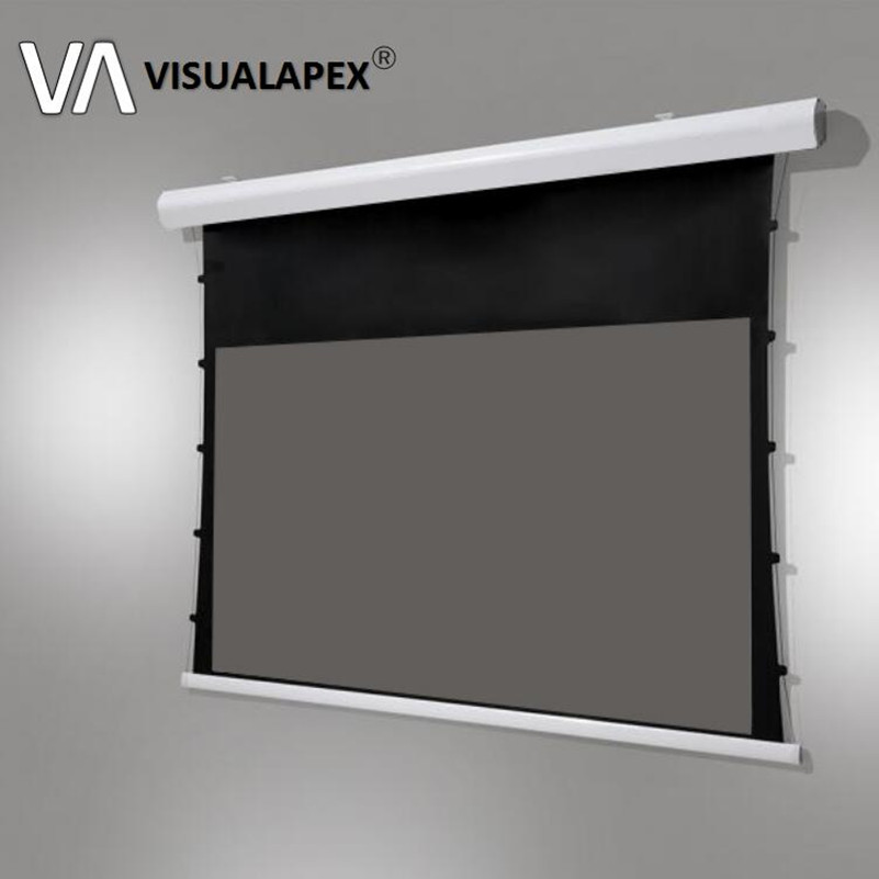 T8ALRU Advanced Electric Motorized Tab-tension Projection Screen With ALR Material For Ultra-short Throw Projectors