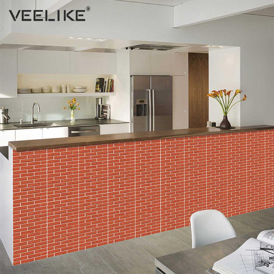 3D Brick Wall Panels PVC Self Adhesive Wallpaper for Kitchen Backsplash  Peel and Stick Tile Wall Paper for Bathroom Living Room