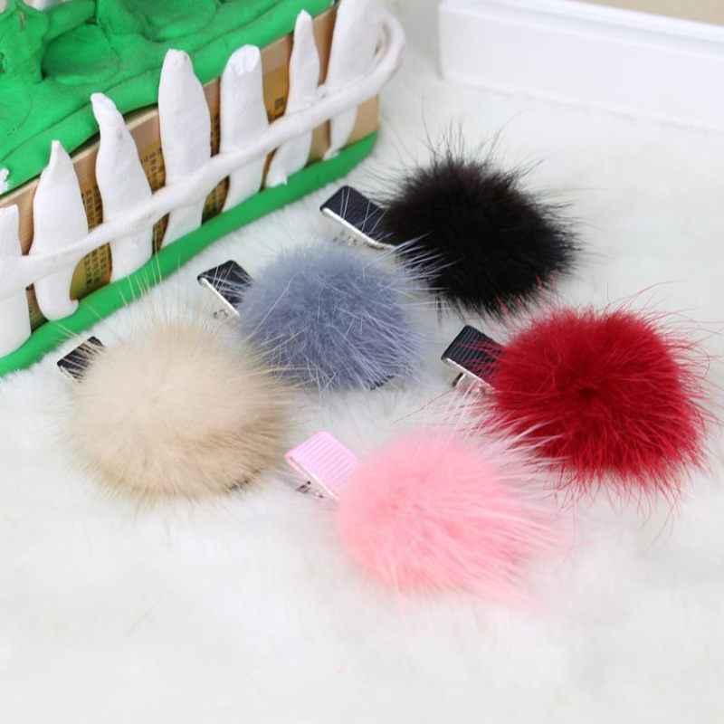 Новинка; Лидер продаж; милые заколки для девочек из искусственного меха; 1 шт.; красивые заколки для волос; стильные заколки для волос; аксессуары для волос