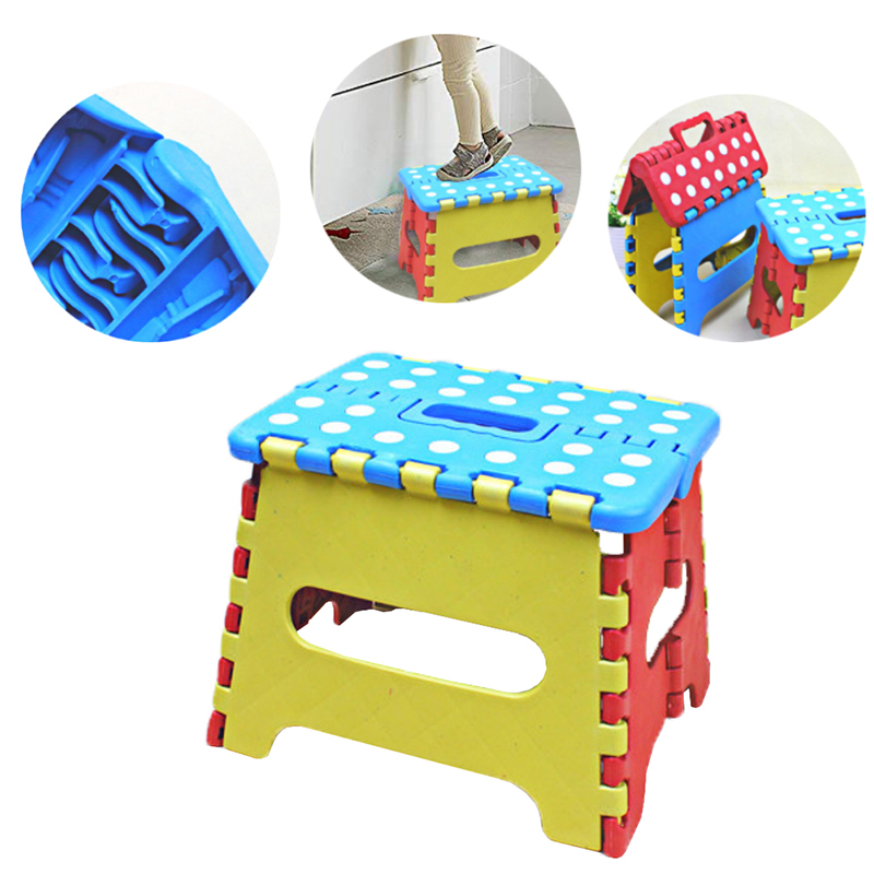 2019 Newly Design Online Portable Thick Plastic Folding Stool Outdoor Activity Tool Home Traveling Safe Necessity For Children