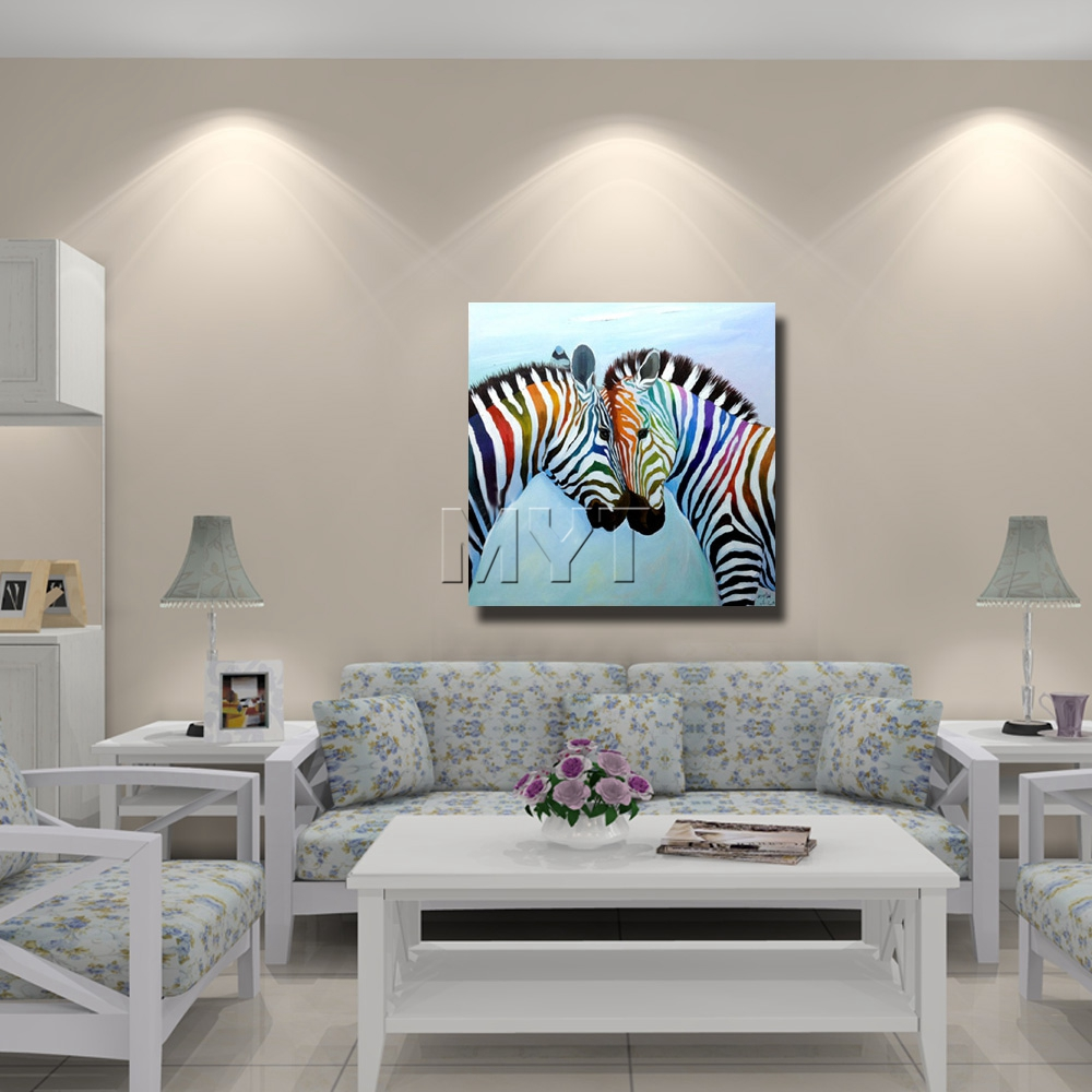 Paintings For Living Room Decor Aliexpresscom Buy New Style Chinese Zebra Painting Modern Decor