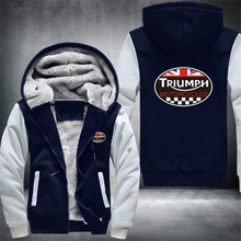Fashion  new hoodie, sweatshirt TRIUMPH autumn and winter thick wool zipper hoodie men's casual jacket