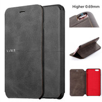 Luxury Cowboy Ultra Thin Nostalgia PU Leather Flip Phone Case For Iphone5 5S SE 6