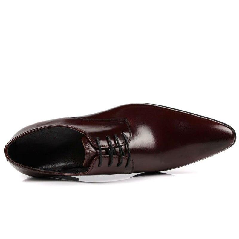 2018 Masculina Zapatillas Vestido Preto Homens Italiano Sapatos Sapatas Hombre Casamento Preto Couro De Mycolen Genuíno Marrom Moda Formais Nova Vinho vermelho Dos TwztnYq
