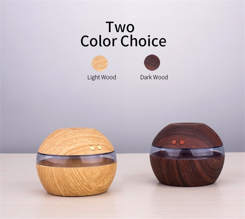 300Ml Mini Portable Wood Grain Air Humidifier