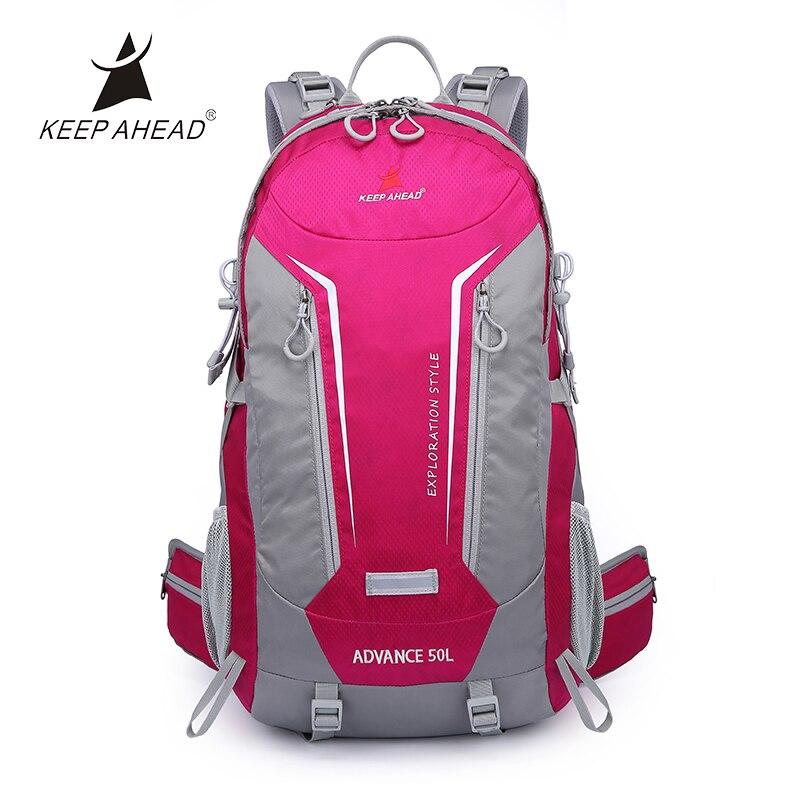 Unisexe 50L sac de voyage pliable extérieur pour randonnée Trekking sac à dos Camping respirant Softback avec 3 couleurs Fine Zipple