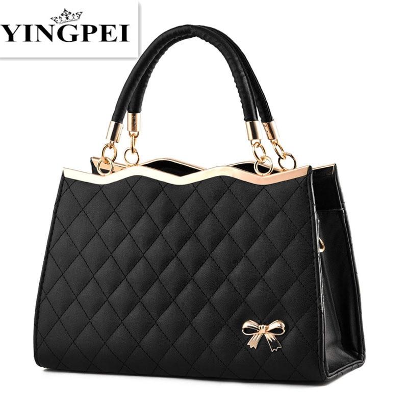 YINGPEI Női Messenger táskák Alkalmi Tote Femme Top-Handl luxus kézitáskák Női táska Designer Kiváló minőségű válltáskák
