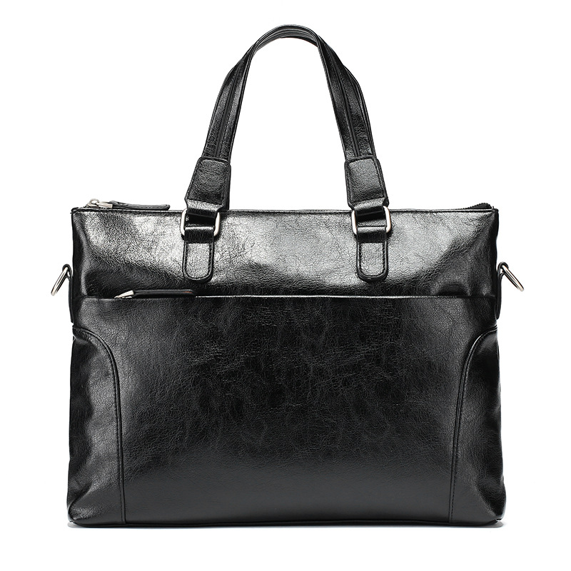 Man Leather Handbag Shoulder Documents Computer Thread Business Man Bag Totes Crossbody Bags High Quality Leather Bag in Top Handle Bags from Luggage Bags