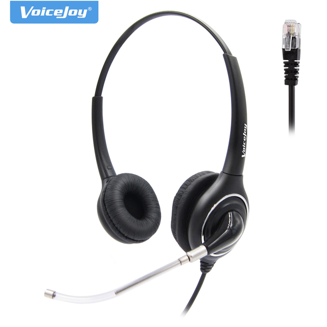 US $26 4 40% OFF QD headset with RJ9 Plug With Noise Cancelling Micro for  Yealink, P anasonic, Snom, Grandstream,AVAYA 1600 9600 Series phones-in